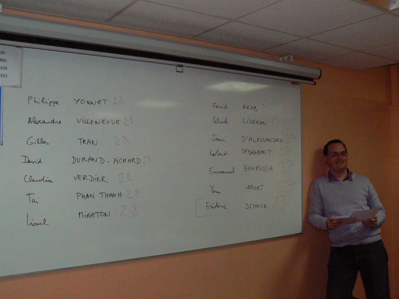 Sylvain Peyronnet, Président de Séance, proclame les résultats