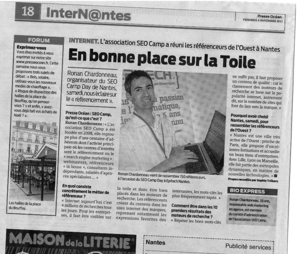 seo camp day nantes presse ocean