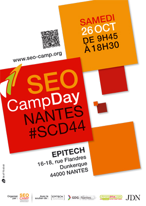 Affiche SEO Camp Day Nantes 2013
