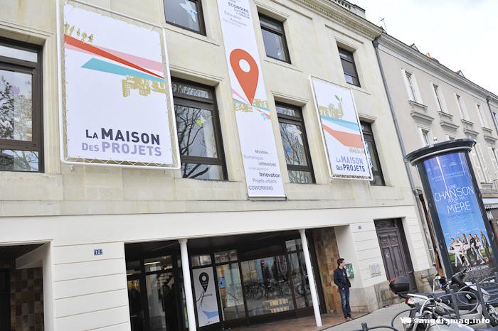 Le lieu de l'événement, à la Maison des Projets à Angers.