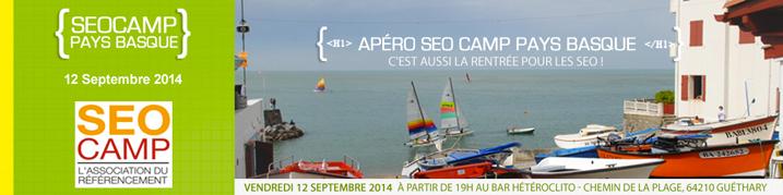 Apéro SEO Camp Pays Basque