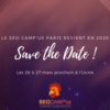 Save the date - SEO Camp'us Paris 2020
