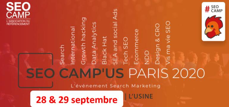 Report du SEO Camp'us Paris à septembre