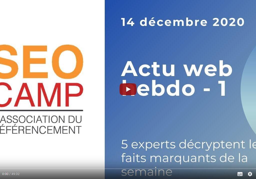Actualite Web 14 décembre 2020