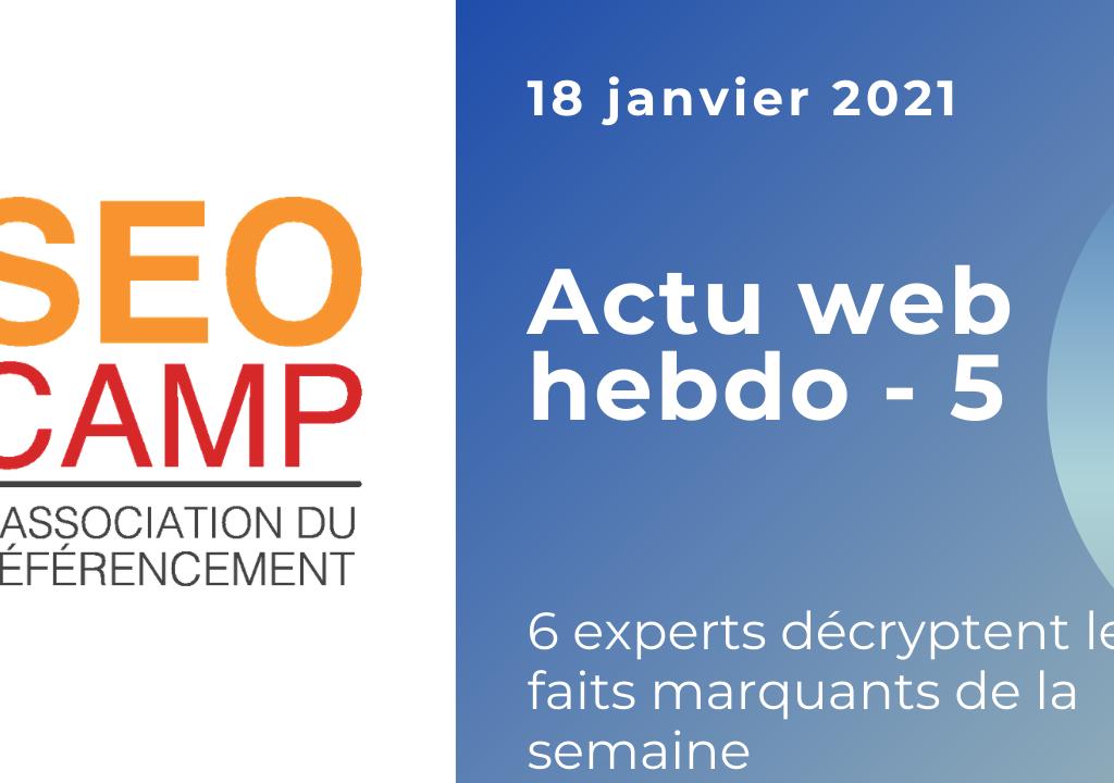 Actu web 18 janvier 2021